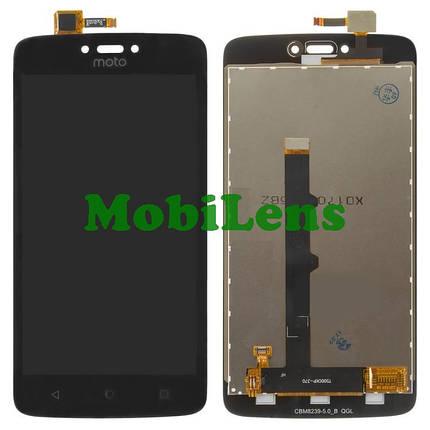 Motorola XT1750, Moto C Дисплей+тачскрин(модуль) черный, фото 2