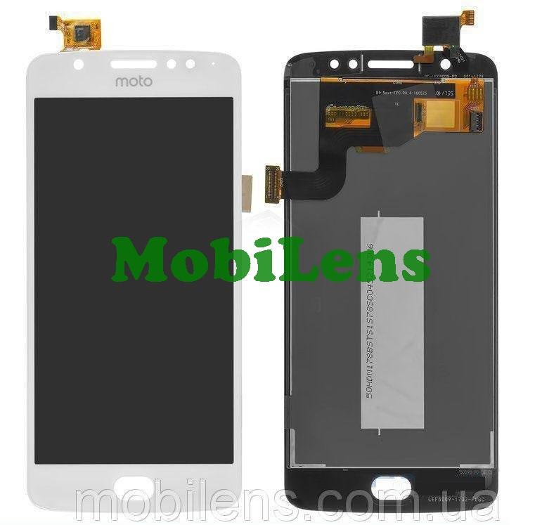 Motorola XT1762, XT1761, XT1766, Moto E4, REV.1 (датчик праворуч) Дисплей+тачскрін(модуль) білий