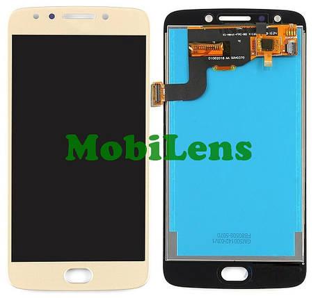 Motorola XT1767, XT1768, Moto E4, REV.2 (датчик слева) Дисплей+тачскрин(модуль) золотистый, фото 2