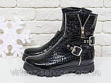 Ботинки женские Gino Figini Б-450-08 из натуральной кожи 36 Черный, фото 2