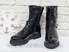 Ботинки женские Gino Figini Б-450-08 из натуральной кожи 36 Черный, фото 3