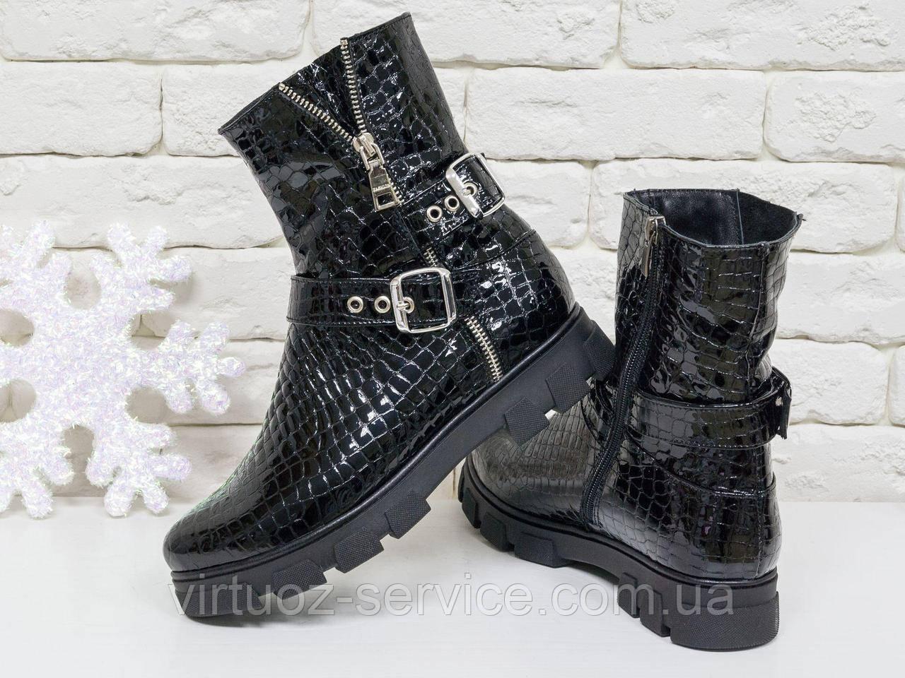 Ботинки женские Gino Figini Б-450-08 из натуральной кожи 36 Черный