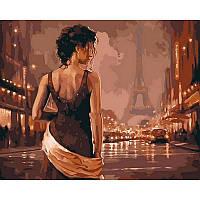 "Картина раскраска по номерам ""Винтажный Париж"" на холсте 40Х50см VP544"
