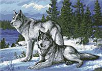 АМС-110. Набір алмазної мозаїки Вовки.