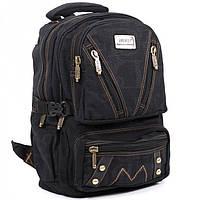 Джинсовый подростковый рюкзак Gold Be 28 x 42 x 15 см Черный (b255/1)