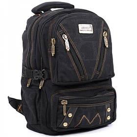 Джинсовий підлітковий рюкзак Gold Be 28 x 42 x 15 см Чорний (b255/1)
