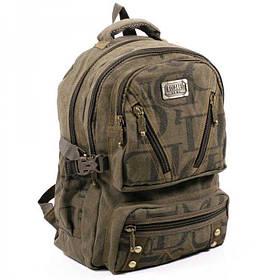 Джинсовий підлітковий рюкзак Gold Be 28 x 42 x 15 см Зелений (b255/3)