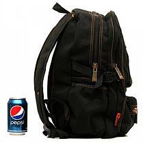 Джинсовый подростковый рюкзак Gold Be 25 x 40 x 14 см Черный (1304/1), фото 2