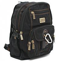 Джинсовый подростковый рюкзак Gold Be 28 x 40 x 18 см Черный (b259/1)