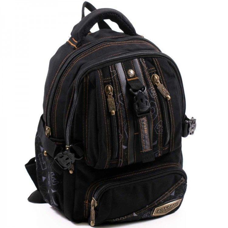 Джинсовый подростковый рюкзак Gold Be 24 x 35 x 15 см Черный (b796/1)