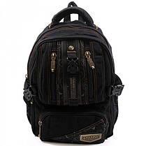 Джинсовый подростковый рюкзак Gold Be 24 x 35 x 15 см Черный (b796/1), фото 2