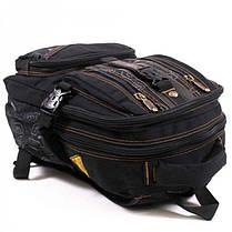 Джинсовый подростковый рюкзак Gold Be 24 x 35 x 15 см Черный (b796/1), фото 3