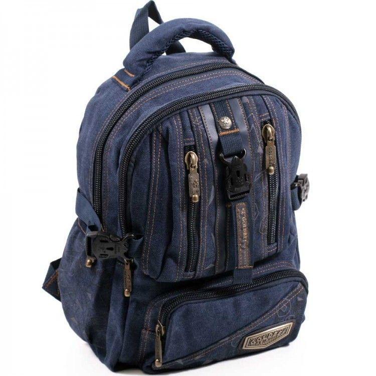 Джинсовый подростковый рюкзак Gold Be 24 x 35 x 15 см Синий (b796/2)