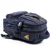 Джинсовый подростковый рюкзак Gold Be 24 x 35 x 15 см Синий (b796/2), фото 3