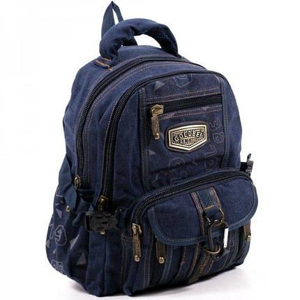 Джинсовый подростковый рюкзак Gold Be 24 x 35 x 15 см Синий (b797/2), фото 2