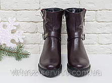 Ботинки женские Gino Figini Б-450-10 из натуральной кожи 37 Бордовый, фото 3