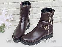 Ботинки женские Gino Figini Б-450-10 из натуральной кожи 37 Бордовый, фото 2