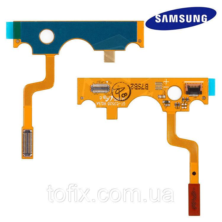 Шлейф для Samsung C3520, межплатный, з компонентами, оригінал