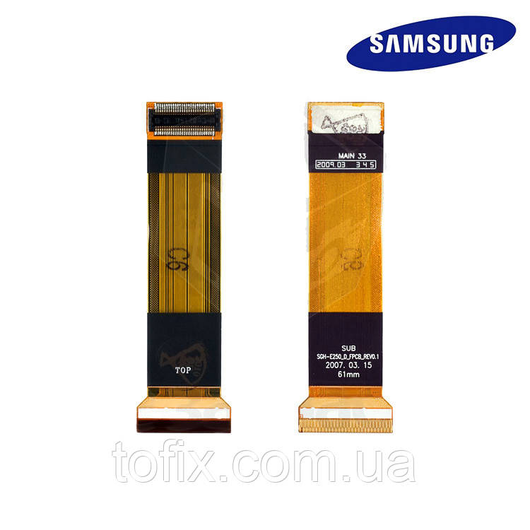 Шлейф для Samsung E250D, межплатный, с компонентами, оригинал