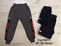 Спортивные утепленные штаны для мальчиков оптом, Mr.David, 98-128 см,  № CSQ-96019, фото 1