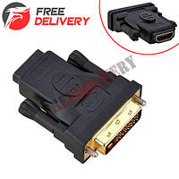 DVI 24+5 - HDMI адаптер переходник, позолоченный