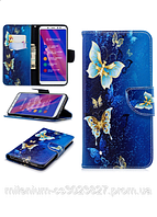 "Чехол Книжка для Xiaomi (Ксиоми)Redmi note 4/note 4х ""Бабочки тип2""с визитницей"