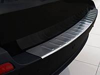 Накладка на задний бампер BMW X5 (E70) 2007-2011, полированная сталь 35744