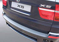 Накладка на задний бампер BMW X5 (E70) 2007-2013, ABS-пластик