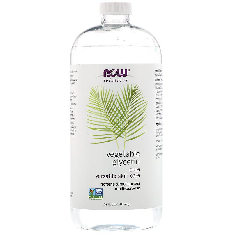 """Растительный глицерин NOW Foods, Solutions """"Vegetable Glycerine"""" увлажнение и смягчение кожи (946 мл)"""