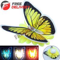 Светильник ночник светящаяся Бабочка светодиодный LED 10см