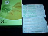 Иглы акупунктурные корпоральные с серебрянной ручкой стерильные уп.-100 шт.