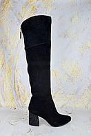 Замшевые сапоги женские на каблуке Mea Balan