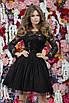Вечернее платье с гипюровой вставкой и пайетками 42, 44, 46, фото 3