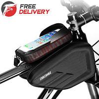 """Нарамная сумка для велосипеда велосумка CoolChange водонепроницаемая 6.2"""""""