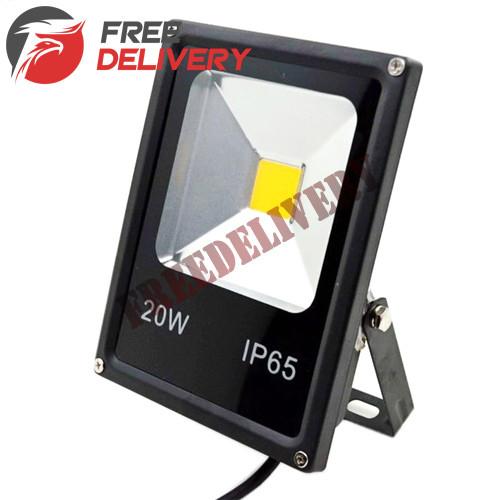 Прожектор светодиодный LED уличный, теплый белый 20Вт 2000лм 220В