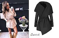 Пальто жіноче півпальто на запах модне, фото 1