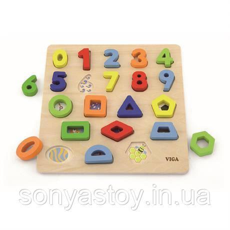 """Деревянный набор для обучения """"Цифры и фигуры"""", 1.5+"""