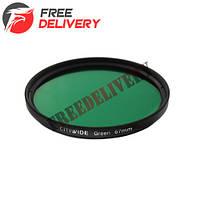 Цветной фильтр 67мм зеленый, CITIWIDE