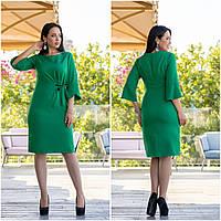 Платье батал NOBILITAS 48 - 54 зеленое (арт. 19050)