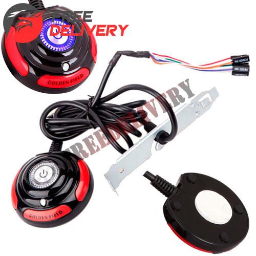Кнопка включения питания ПК, выносная 160см, Power SW Reset + индикация