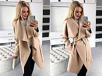 Пальто женское полупальто на запах модное, фото 1
