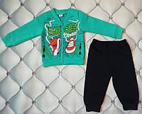 Теплый костюм мальчику Кеды, трехнить, Турция,рр. 1 год