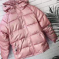 Куртка женская тёплая марсала, черный, пудра 42 44 46, фото 1