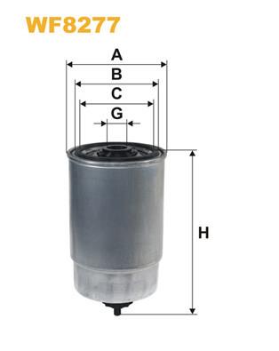 Фильтр топливный WIXFILTRON CITROEN JUMPER 2.8HDI 10/00->; FIAT DOBLO 1.9JTD, DUCATO 2.8JTD 10/00->;PEUGEOT BO