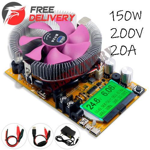 Электронная нагрузка 150Вт 200В 20А регулируемая + USB тестер Juwei