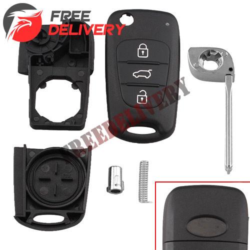 Выкидной ключ зажигания, заготовка корпус под чип, 3 кнопки, Hyundai