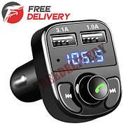 Автомобильный FM-модулятор Bluetooth 4.0 Handsfree 2x USB MicroSD 3.1А