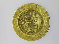 Антикварна бронзова тарілка картина