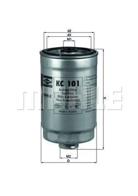 Фильтр топливный Mahle HYUNDAI SANTA FE 2.2 CRDI 06-/SONATA V 2.0 CRDI 06-/ACCENT III/GETZ/MATRIX Харьков