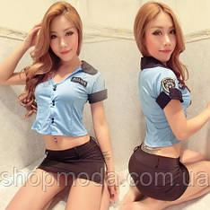 Эротический игровой костюм полицейской S синий